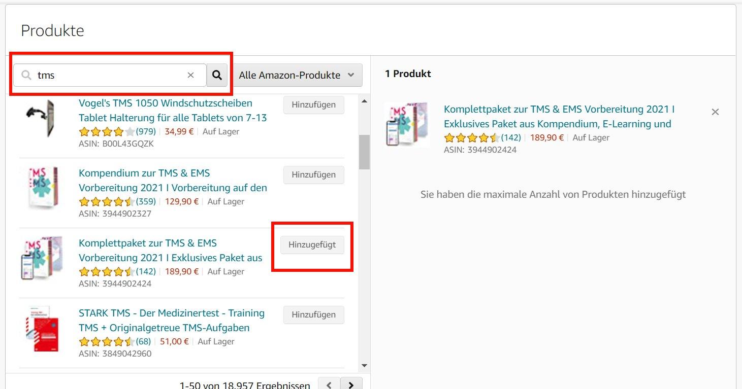 Buchwerbung auf Amazon_Werbeanzeige Video_Produktauswahl
